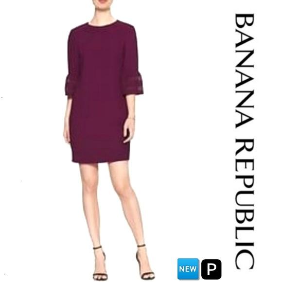 215d23929c80 Banana Republic Dresses | 34 Lace Bell Sleeve Shift Dress Nwt | Poshmark